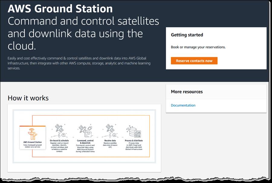 AWS Ground Station Web Site