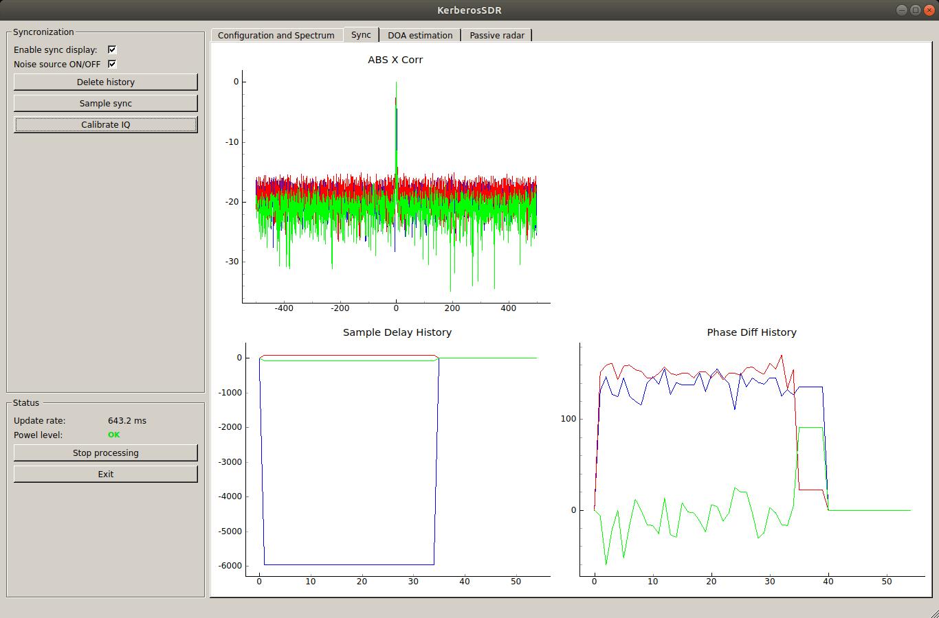 Kerberos SDR Synchronized