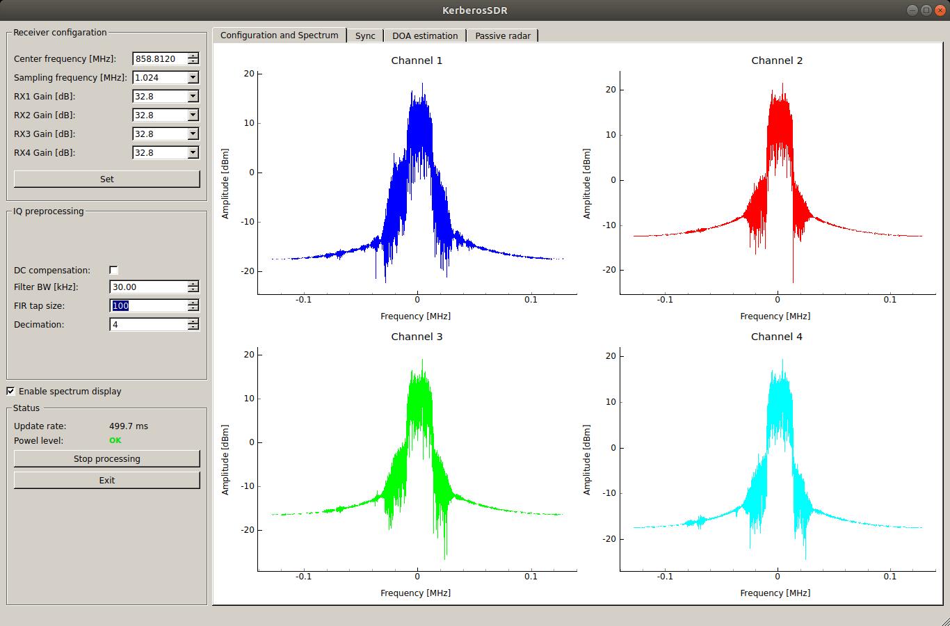 FIR filter enabled