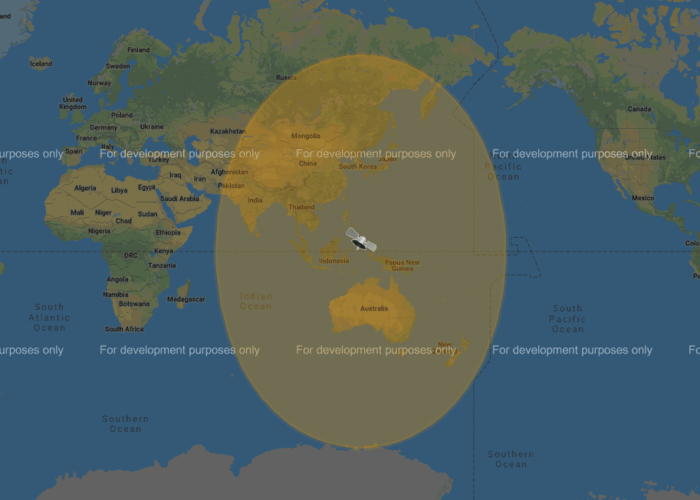 COMS-1 Geostationary Satellite Footprint