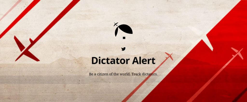 Dictator Alert. A Twitter bot reporting on dictator movements via ADS-B data. dictatoralert.org