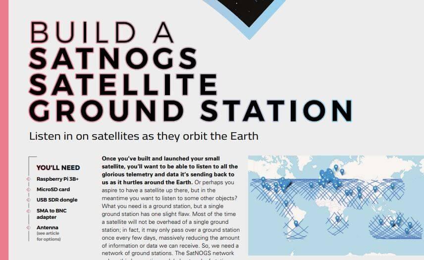 HackSpace Magazine SatNOGS Article