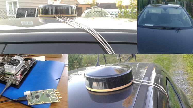 NUT2NT+ with RA125 antenna for precision positioning of autonomous vehicles.