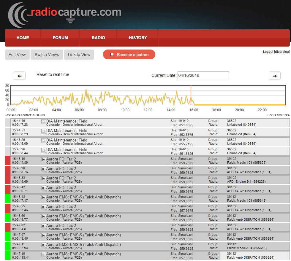 RadioCapture logged audio