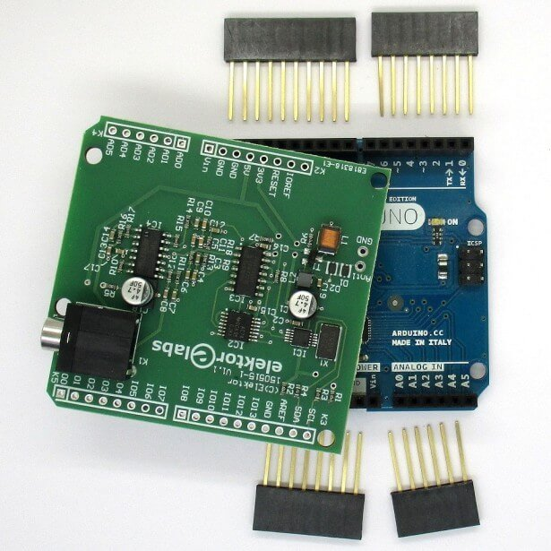 The Elektor Arduino Shield HF SDR Kit.