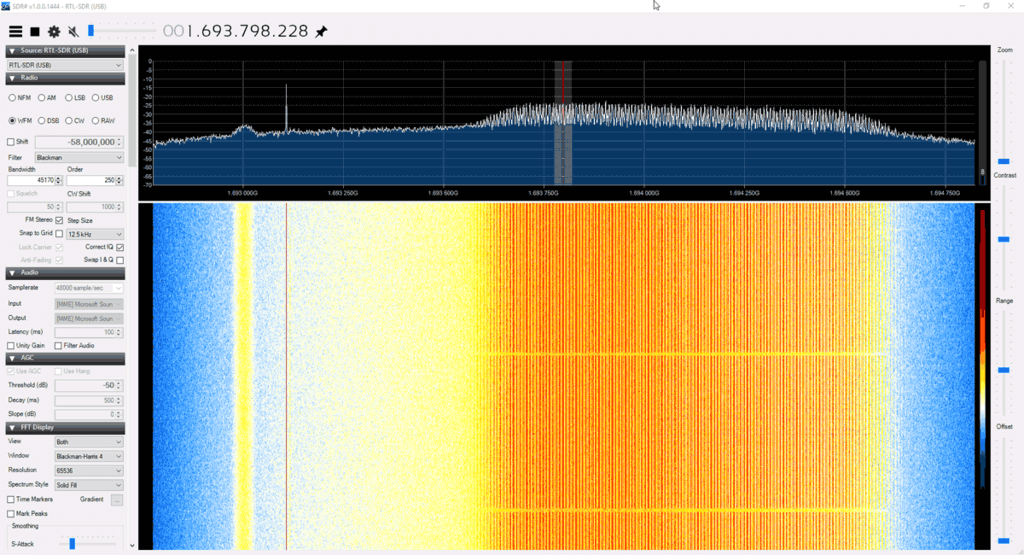 What GOES-17 looks like in SDR# on an RTL-SDR