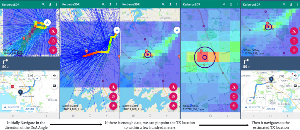 KerberosSDR Android App for Direction Finding