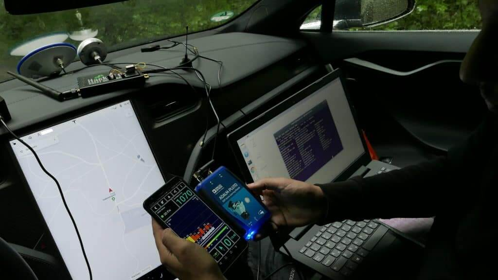 Some SDR tools used to spoof the Tesla Model 3.