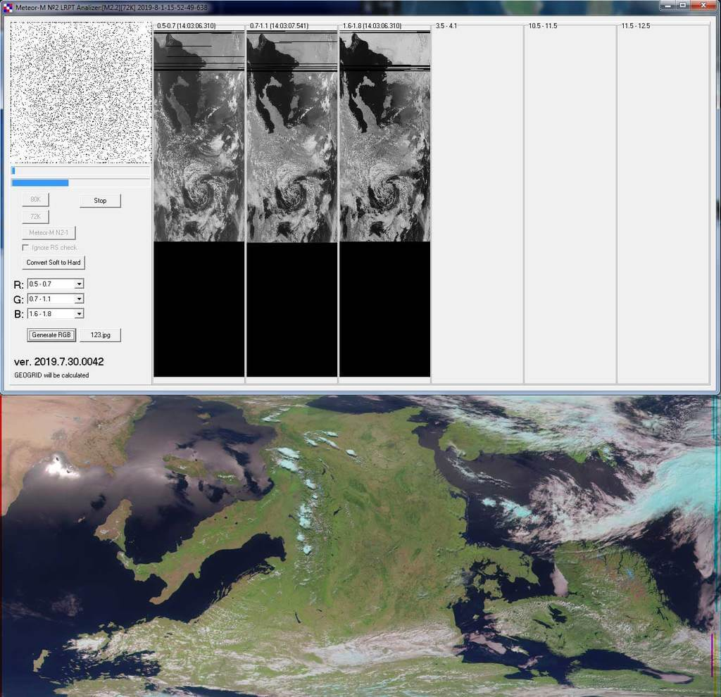 The new Meteor M-N2-2 Decoder + Sample Image