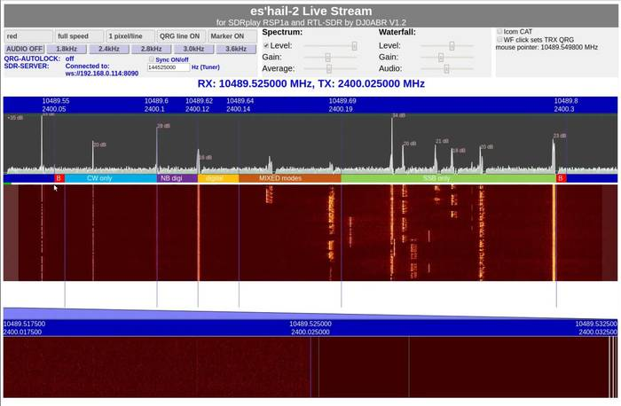 Es'Hail-2 QO-100 WebSDR
