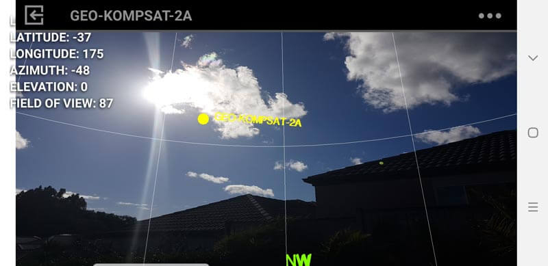 When the sun is behind the satellite, we cannot receive the signal.
