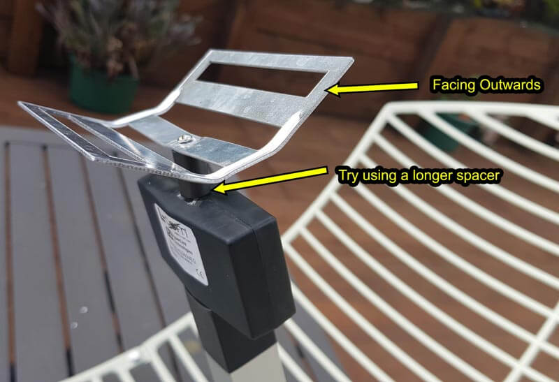 Modifications for 2.4 GHz WiFi Antennas to improve 1.7 GHz Reception