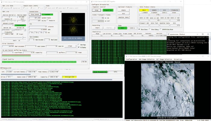 XRIT Decoder Screens