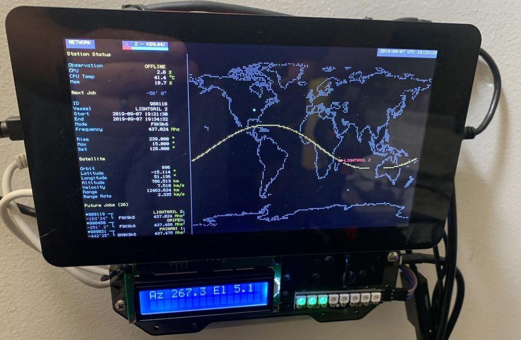 SatNOGS Ground Station Monitor