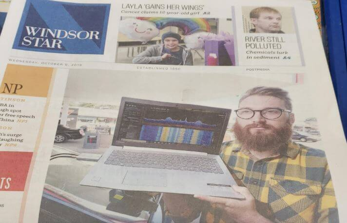 SDR_LumberJack in the local newspaper