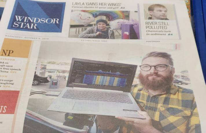 SDR_LumberJack in the local newspaper