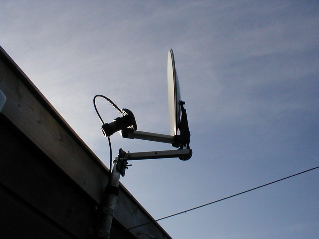 L-Band Patch Antenna on Dish