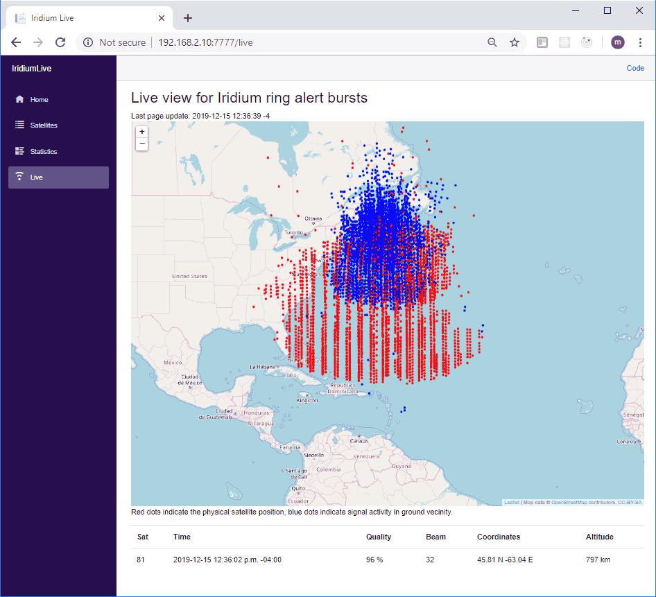 IridiumLive Screenshot