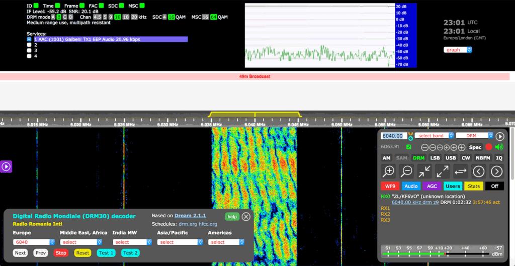 KiwiSDR Decoding DRM