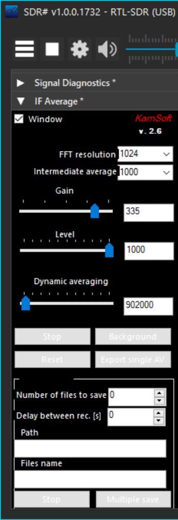 IF Average SDR# Plugin
