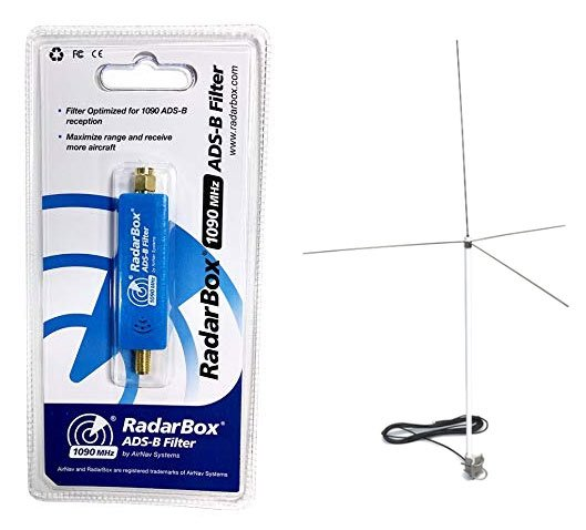 New RadarBox 1090 MHz Filter and 1090 MHz & VHF Antenna single antenna.