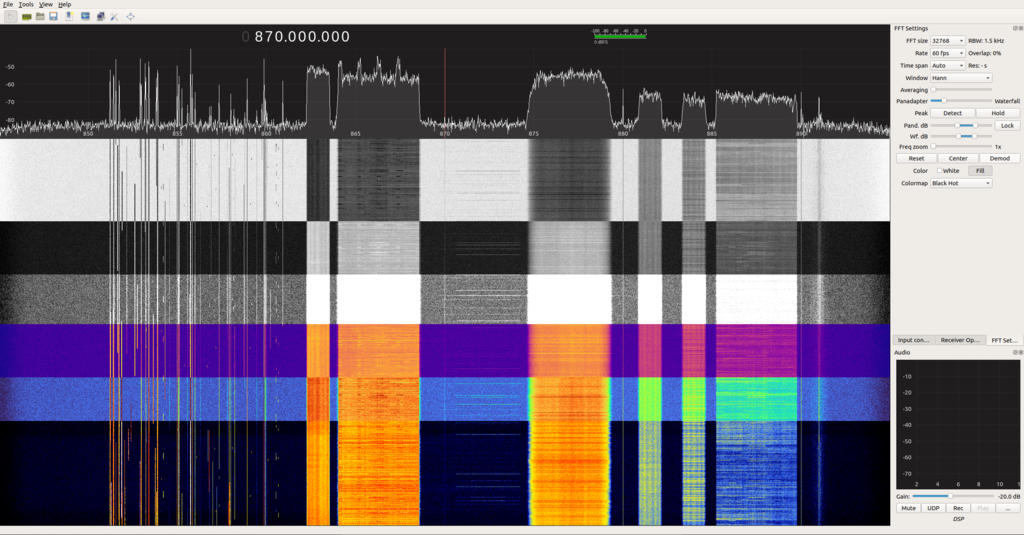 GQRX Updated Color Schemes