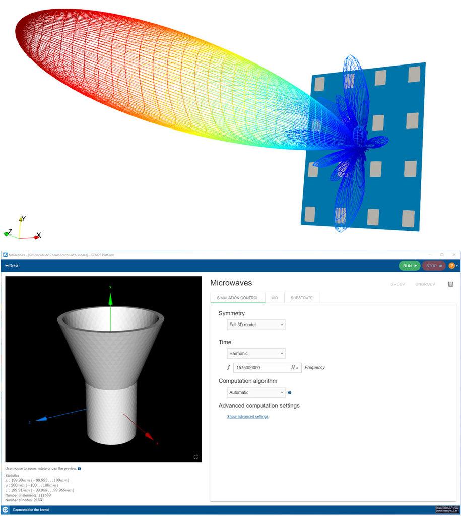 CENOS Antenna Design Program Screenshots