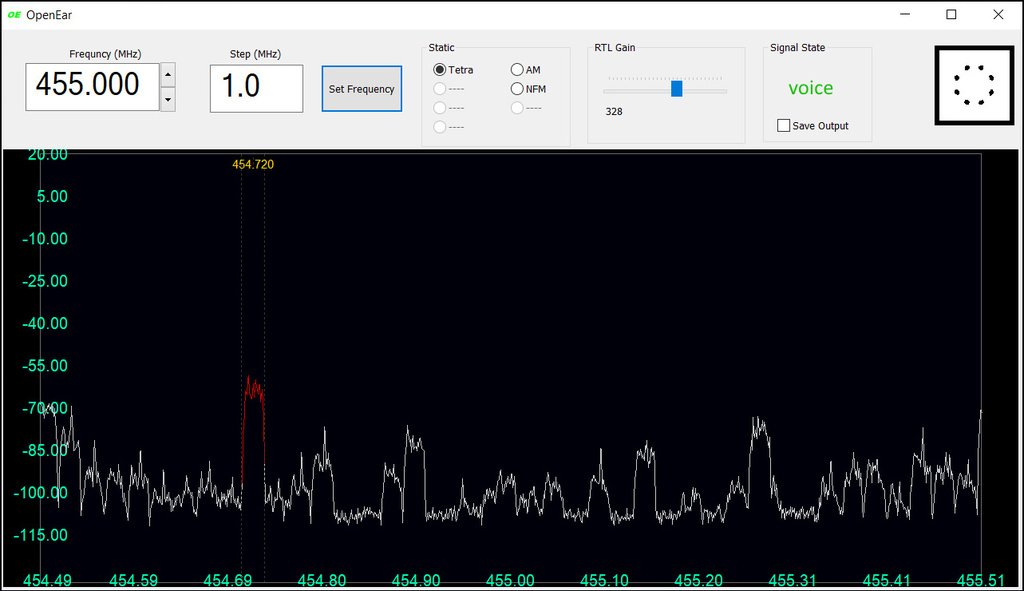 OpenEar TETRA Voice Decoder Screenshot