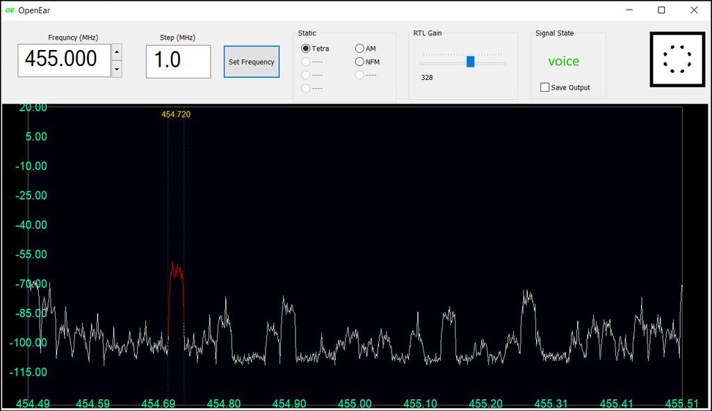 OpenEar TETRA Voice Decoder Screenshot