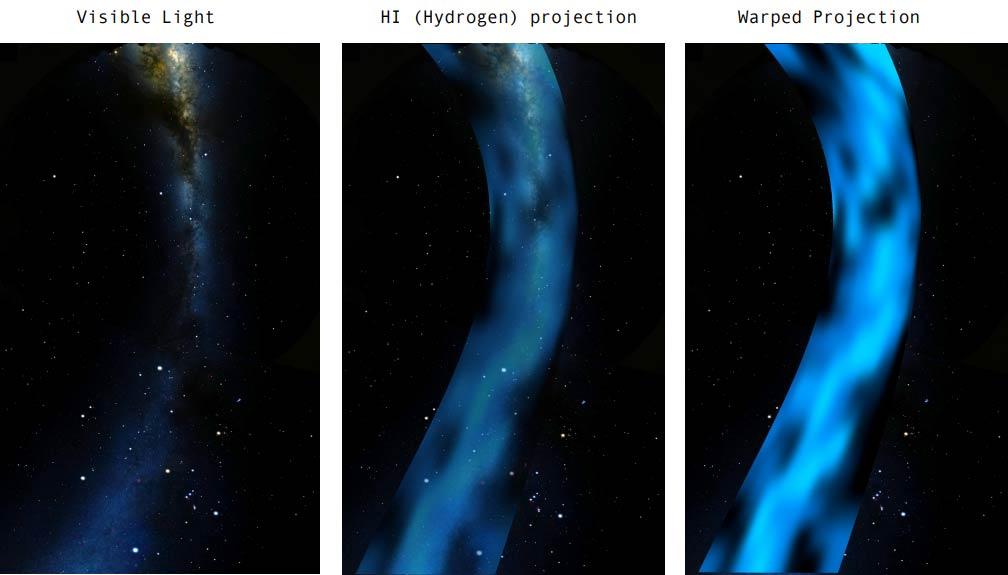 Hydrogen Line Image of the Milky Way produced by Job Geheniau