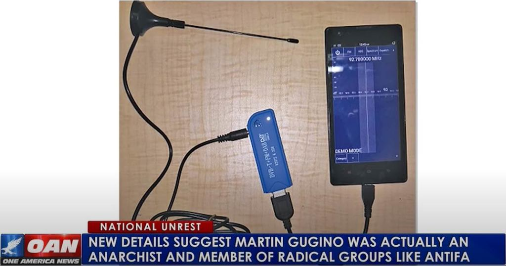 OAN indicates that Martin Gugino may have used an RTL-SDR on police