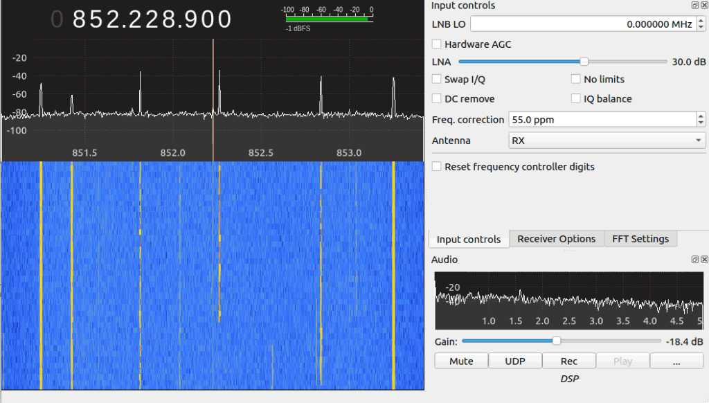 Voice Trunking Seen on GQRX with an RTL-SDR