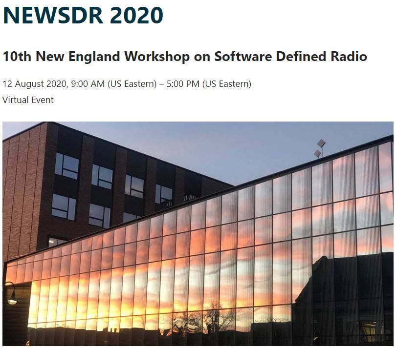 NEWSDR 2020 to be held online