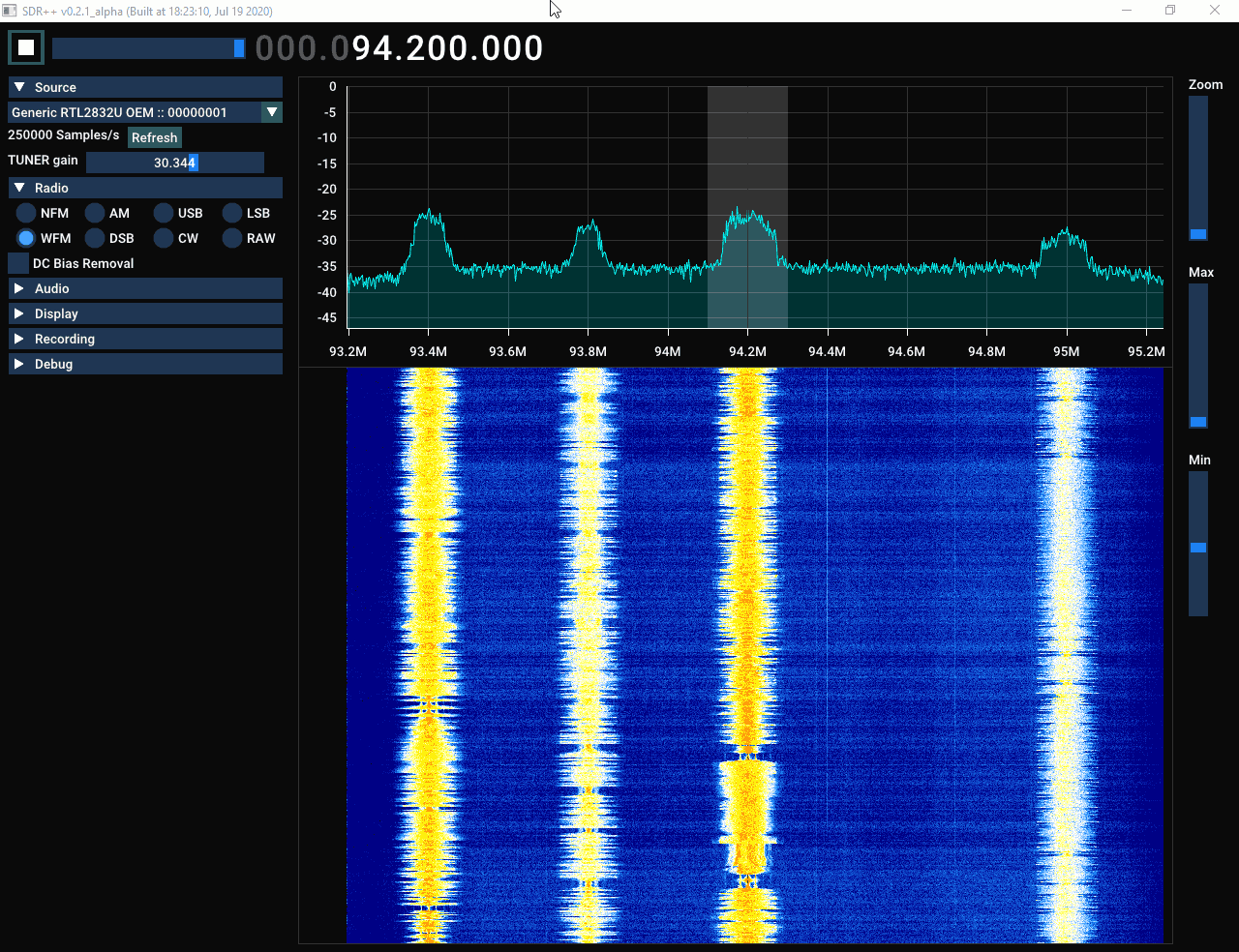 The SDR++ Interface